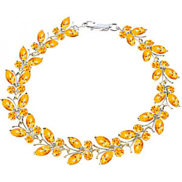 Citrine Butterfly Bracelet 16.5 ctw in 9ct White Gold
