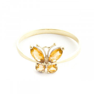 Citrine Butterfly Ring 0.6 ctw in 9ct Gold
