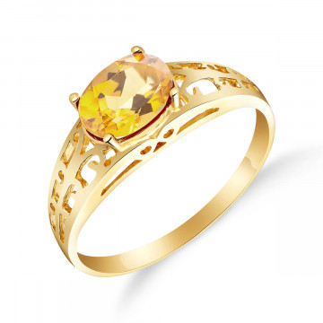 Citrine Catalan Filigree Ring 1.15 ct in 9ct Gold