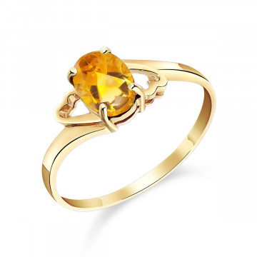 Citrine Classic Desire Ring 0.9 ct in 9ct Gold