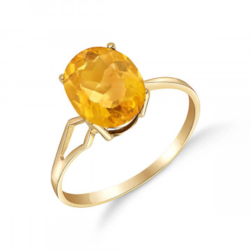 Citrine Claw Set Ring 2.2 ct in 9ct Gold