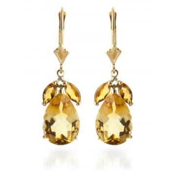Citrine Drop Earrings 13 ctw in 9ct Gold
