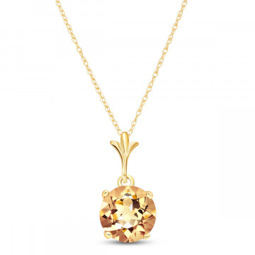 Citrine Drop Pendant Necklace 1.15 ct in 9ct Gold