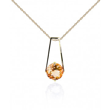 Citrine Embrace Pendant Necklace 1.45 ct in 9ct Gold