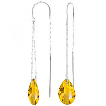 Citrine Scintilla Earrings 6 ctw in 9ct White Gold
