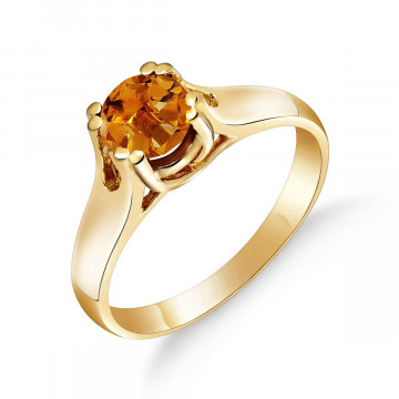 Citrine Solitaire Ring 1.1 ct in 9ct Gold