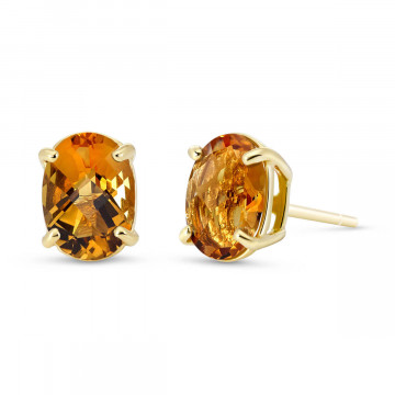 Citrine Stud Earrings 1.8 ctw in 9ct Gold