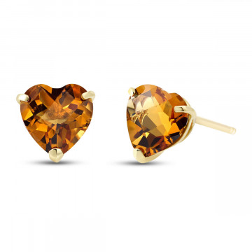 Citrine Stud Earrings 3.25 ctw in 9ct Gold