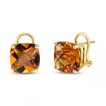 Citrine Stud Earrings 7.2 ctw in 9ct Gold