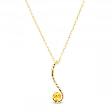 Citrine Swish Pendant Necklace 0.55 ct in 9ct Gold