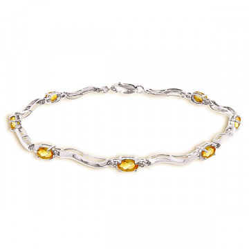Citrine Tennis Bracelet 2.01 ctw in 9ct White Gold