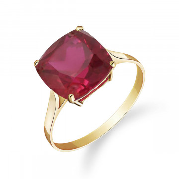 Cushion Cut Ruby Ring 4.7 ct in 9ct Gold