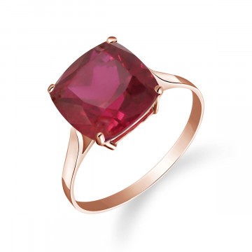 Cushion Cut Ruby Ring 4.7 ct in 9ct Rose Gold
