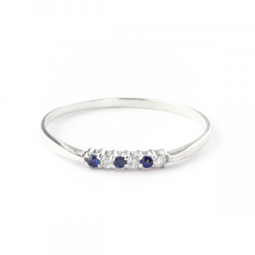Diamond & Sapphire Eternity Ring in 9ct White Gold