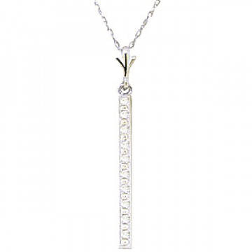 Diamond Bar Pendant Necklace 0.05 ctw in 9ct White Gold