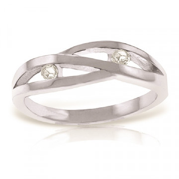 Diamond Channel Set Ring 0.1 ctw in Sterling Silver