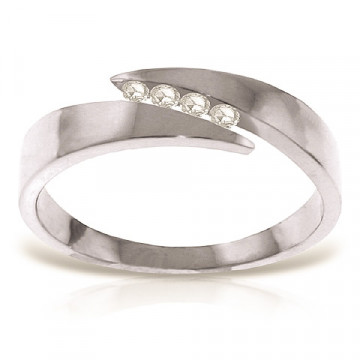 Diamond Channel Set Ring 0.12 ctw in 9ct White Gold