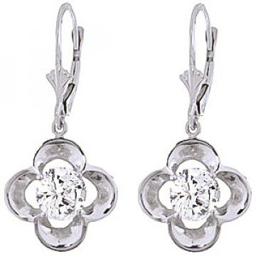 Diamond Drop Earrings 1 ctw in 9ct White Gold