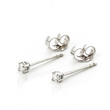 Diamond Stud Earrings 0.1 ctw in 9ct White Gold