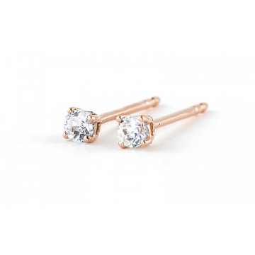 Diamond Stud Earrings 0.2 ctw in 9ct Rose Gold