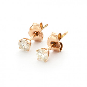 Diamond Stud Earrings 0.3 ctw in 9ct Rose Gold