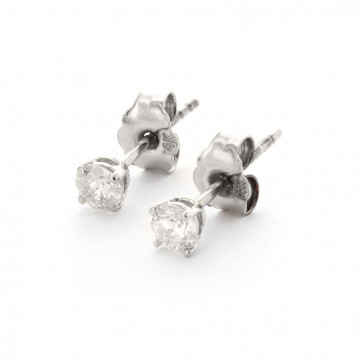 Diamond Stud Earrings 0.3 ctw in 9ct White Gold