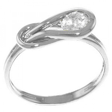 Diamond Twist Ring 0.5 ct in 9ct White Gold