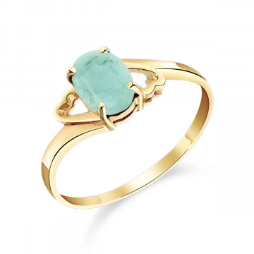 Emerald Classic Desire Ring 0.75 ct in 9ct Gold