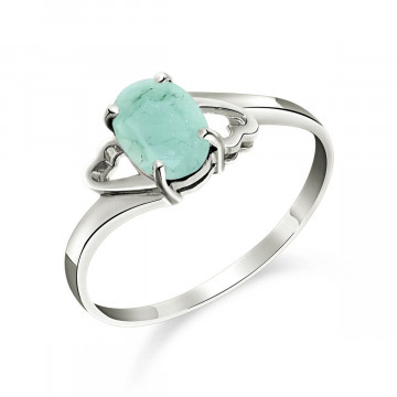 Emerald Classic Desire Ring 0.75 ct in 9ct White Gold
