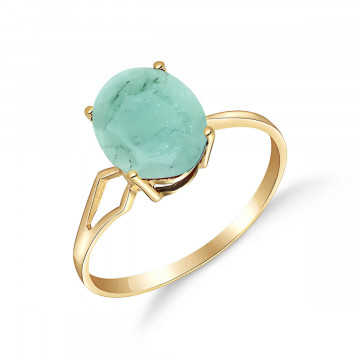 Emerald Claw Set Ring 2.9 ct in 9ct Gold