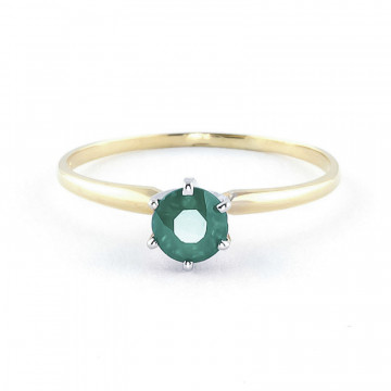 Emerald Crown Solitaire Ring 0.65 ct in 9ct Gold