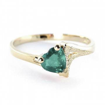 Emerald Devotion Ring 1 ct in 9ct Gold