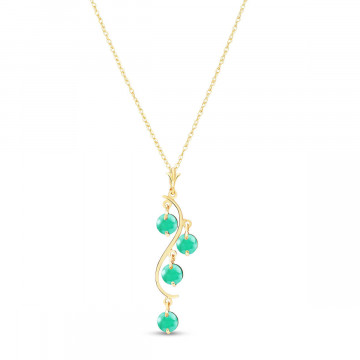 Emerald Dream Catcher Pendant Necklace 2 ctw in 9ct Gold