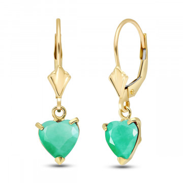 Emerald Drop Earrings 2.4 ctw in 9ct Gold