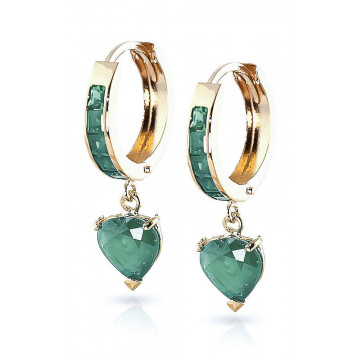 Emerald Huggie Earrings 0.85 ctw in 9ct Gold