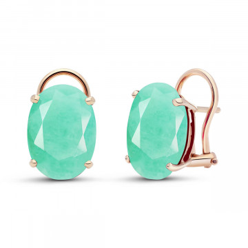 Emerald Stud Earrings 13 ctw in 9ct Rose Gold