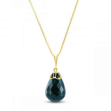 Emerald Tiara Pendant Necklace 14.8 ct in 9ct Gold