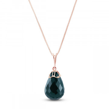 Emerald Tiara Pendant Necklace 14.8 ct in 9ct Rose Gold