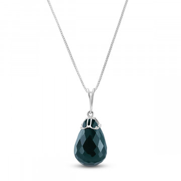 Emerald Tiara Pendant Necklace 14.8 ct in 9ct White Gold