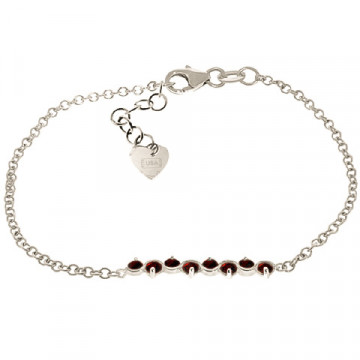 Garnet Adjustable Bracelet 1.55 ctw in 9ct White Gold
