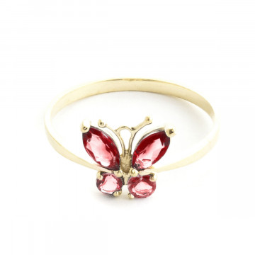 Garnet & Citrine Butterfly Ring in 9ct Gold