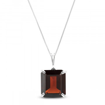 Garnet Auroral Pendant Necklace 7 ct in 9ct White Gold