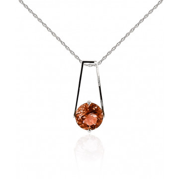 Garnet Embrace Pendant Necklace 1.45 ct in 9ct White Gold