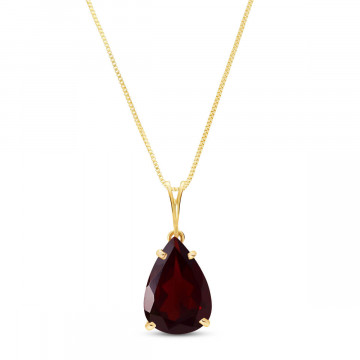Garnet Pear Drop Pendant Necklace 5 ct in 9ct Gold