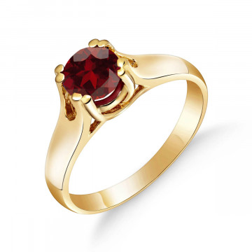 Garnet Solitaire Ring 1.1 ct in 9ct Gold