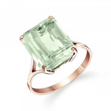 Green Amethyst Auroral Ring 6.5 ct in 9ct Rose Gold