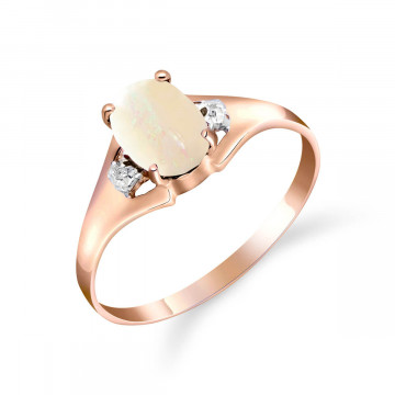 Opal & Diamond Desire Ring in 9ct Rose Gold