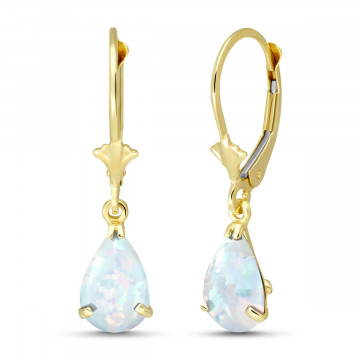 Opal Belle Drop Earrings 1.55 ctw in 9ct Gold
