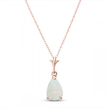 Opal Belle Pendant Necklace 0.77 ct in 9ct Rose Gold