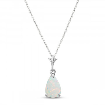 Opal Belle Pendant Necklace 0.77 ct in 9ct White Gold